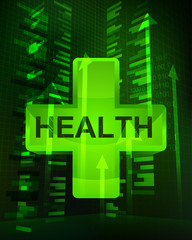 positive growth data in health care vector