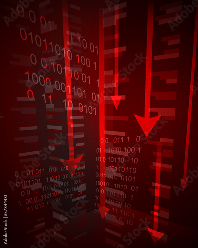 abstract negative business graph results vector illustration