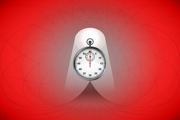 heavenly space with red light highlights stopwatch vector