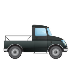 isolated empty pick up car vector drawing on white