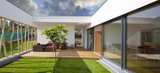 Fototapety new modern home with privat garden and terrace