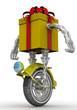 Подарочная коробка в виде робота на колесе