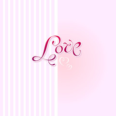 love card design. vector illustration