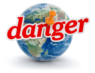 Globe and Danger (clipping path included)