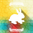 Happy Easter greeting card background.