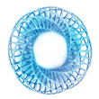 unique metallic blue framework shaped jewelry product design