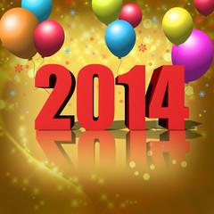 Neues Jahr Hintergrund, Luftballons