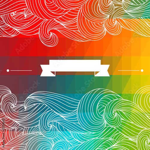 Card abstract geometric background.
