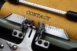Contact on typewriter