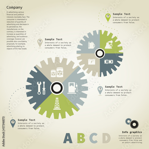 Info graphic gear wheel