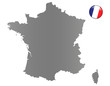 Frankreich-Landkarte