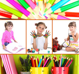 Collage of education children