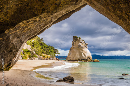 Staande foto Cathedral Cove Cathedral Cove