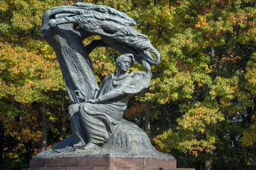 Frederic Chopin monument in Lazienki Park, Warszawa