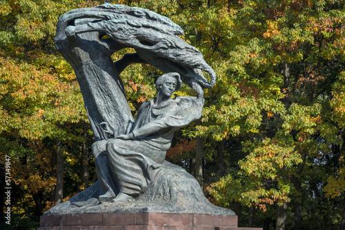 obraz PCV Pomnik Fryderyka Chopina w Łazienkach, Warszawa