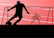 Soccer football players active sport silhouettes vector backgrou