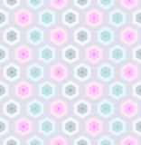 Seamless retro honeycomb pattern-2