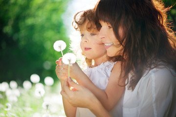 daughter with her mother together outdoors