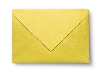 Close-up of  golden envelope.