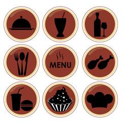 nine silhouettes for menu