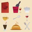 nine icons for menu