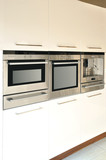 Modern kitchen stainless steel oven