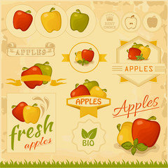 apples, food fruits, product label packaging design