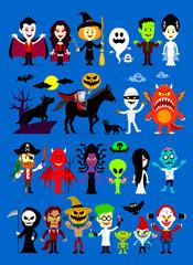 Monsters Mash Halloween Cartoon Characters