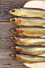 Smoked herring closeup