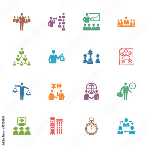 Management and Business Icons - Colored Series