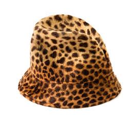 Leopard fur beanie