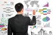 Businessman drawing modern business concept