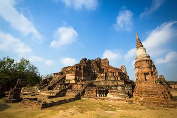 Temple Wat Mahathat in Ayutthaya, Thailand.