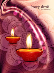 Diwali diya beautiful artistic design