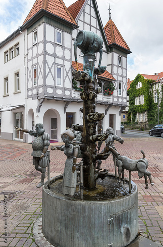 the fountain in the city of Lemgo, Germany