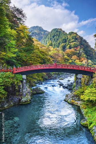 Sacred bridge in Nikko Japan