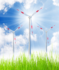 Wind energy. Renewable resources concept.