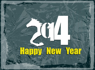 Happy New Year 2014.Abstract holidays card.Vector