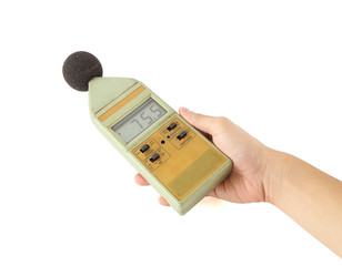 sound level meter on white background