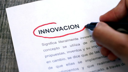 Circling Innovation with a pen (In Spanish)