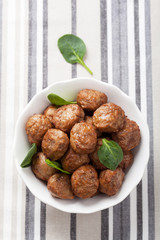 meatballs in bowl