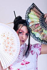 portrait of beautiful geisha