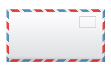 Post envelope isolated on white.