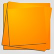 Vibrant orange vector template
