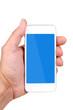 canvas print picture - Smartphone in der Handy, blau