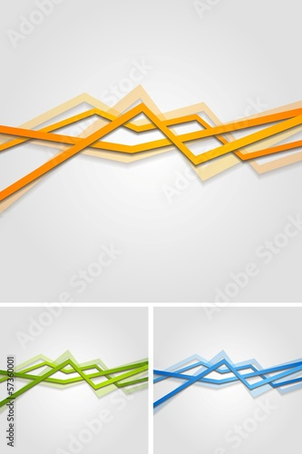 Bright vector stripes design