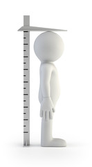 3d small people - tall ruler