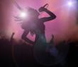 Female singer silhouette - 57360697
