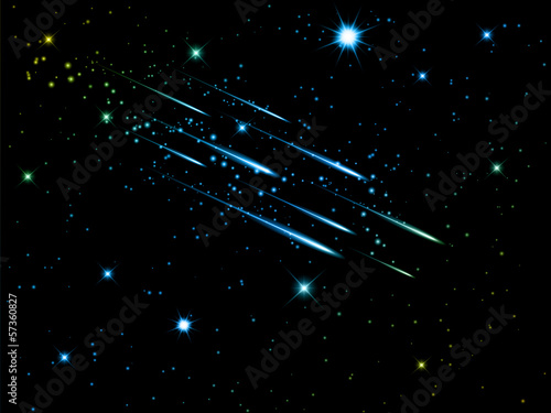 Night sky with shooting stars