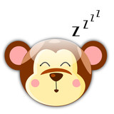 Vector illustration of sleepy monkey